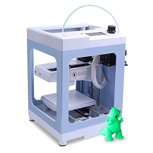 Icstation Mini Desktop 3D Printer, Entry Level Integrated FDM 3D Printer with 1.75mm PLA Filament, Fully Assembled, TF Card, Removable Magnetic Build Plate, for Teens DIY STEM Projects