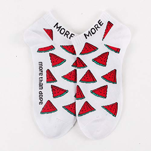 WLQXDD Calcetines especiales de regalo Fruta Colorida Invisible Short Mujer Sudor Verano...