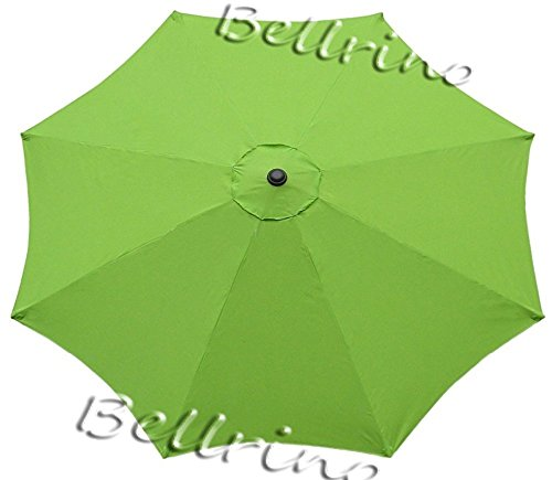 "BELLRINO DECOR Replacement SAGE GREEN"" STRONG AND THICK"" Umbrella Canopy for 9ft 8 Ribs SAGE GREEN (Canopy Only)"