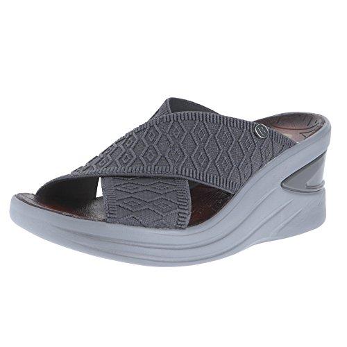 Price comparison product image BZees Womens Vista Open Toe Casual Slide Sandals