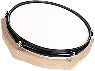 Tosnail 12-inch Silent Drum Practice Pad with Wooden Base and Steel Frame