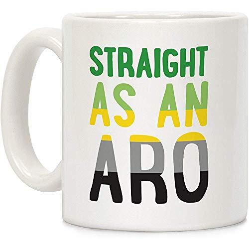 Gerade wie ein Aro White 11 Unzen Keramik Kaffeebecher
