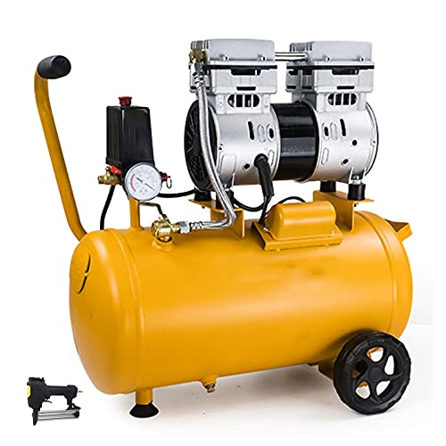 WUK Oil Free Air Compressor 550/750W Portable Air Pump Silent Air Compressor Workshop Tool 10/24L Air Compressor for Home Repair, Tire Inflating