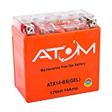 Atom Advanced ATX14-BS Gel Motorcycle Battery - Replaces YTX14-BS / 512 014 010