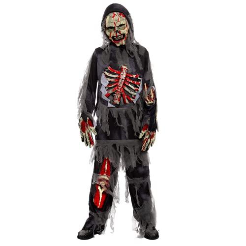 Child Boy Horror Black Zombie costume for...