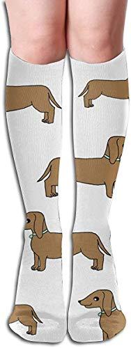 Doxie Süße Hunde Haustier Hund Dackel Wiener Hund Leicht Atmungsaktiv Sport Athletic Socken Casual Bequeme Socken 50cm für Frauen Mädchen