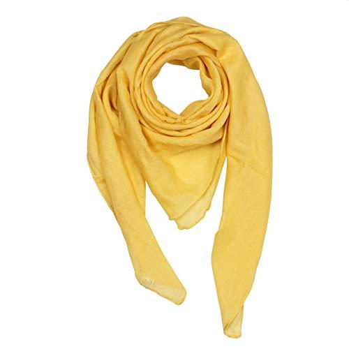 Superfreak Baumwolltuch - Tuch - Schal - 100x100 cm - 100% Baumwolle Farbe gelb-Gold