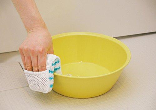 山崎産業お風呂掃除スポンジバスボンくんはさめる抗菌ホワイト178704