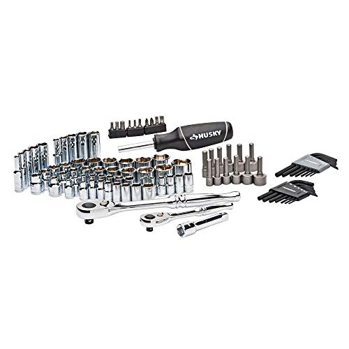 Husky Mechanic Tool Set 92 Piece Wrenches With Case Kit Hand Tools