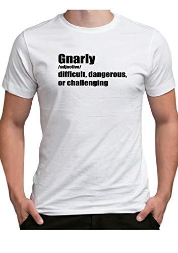 Tijd 4 Tee Gnarly Betekenis T Shirt Mens Top Moeilijk Harde uitdagende Mountainbike Sport