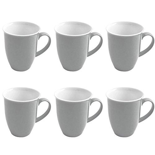 Ritzenhoff & Breker 6 Kaffeebecher 320ml Doppio grau - Flirt