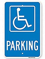 障害者用駐車場標識安全標識スズ金属標識道路道路標識標識屋外装飾注意標識