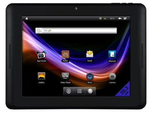 Odys Xpress 20,3 cm (8 Zoll) Tablet-PC (LED-Touchscreen, 1,2GHz, 4GB Flash-Speicher, Wifi, HDMI, 3G, USB 2.0, Android 2.3) schwarz