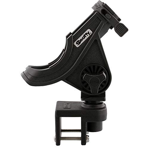 Scotty #284-BK Baitcaster/Spinning Rod Holder w/ #243 Square Rail Mount