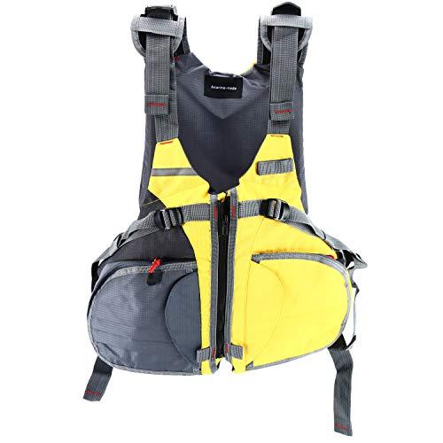 Amarine Made Adjustable Size Life Jacket/Personal Floatation Device for Boat Buoyancy Aid Sailing Kayak Fishing Life Jacket Vest-D90 (Yellow/Gray)