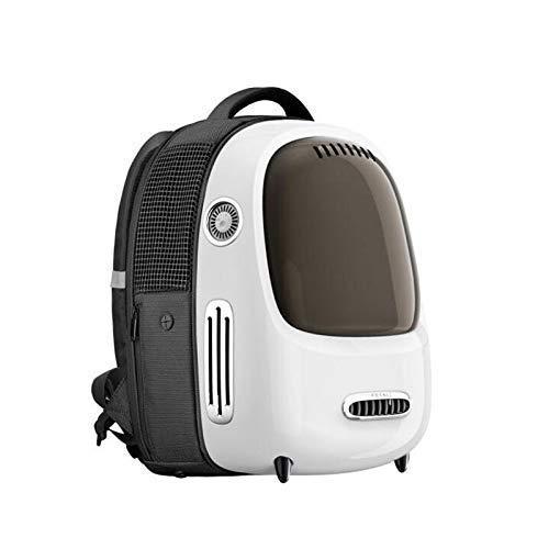 FTFDTMY Pet BackpackPet Katzentransportkorb Reise-Rucksack-Beutel mit Advanced frischer Luft und Druckreduziersystem Smartpet Rucksack-Beutel (Farbe: Grün) (Color : White)