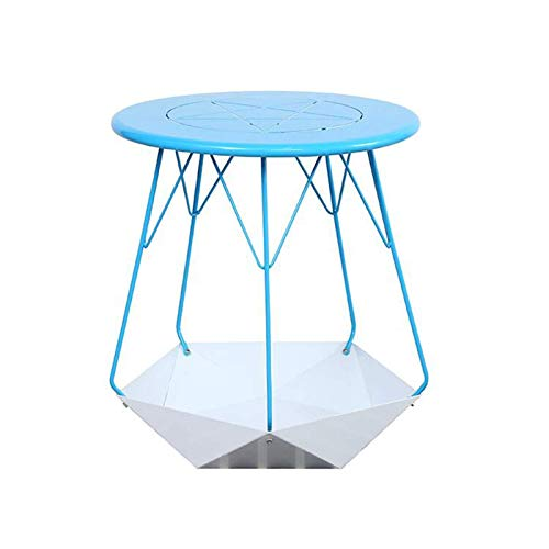 coffee table. Small round table. Small square tabl -Tables Runder Metall-Beistelltisch, Metallaufbewahrungsbasis, Sofa-Beistelltisch, für Wohnzimmer Schlafzimmer Balkon Familie und Büro, 6 Farben Couc