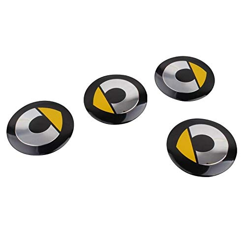XDRE Tapas para Llantas 4PCS Coche Coche Centro Hub Cap Pegatina Compatible con Mercedes Smart Fortwo Forfour 453 451 450 CrossBlade Cabrio City-Coupe Roadster Coupe Cubierta Central (Color : Yellow)