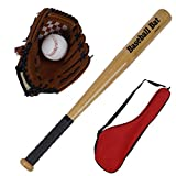 1982 Baseball Bats for Kids Teens Baseball Set with Baseball Ball Youth Baseball Toy 25 inches Aluminum Alloy Bat 10.5inches Glove