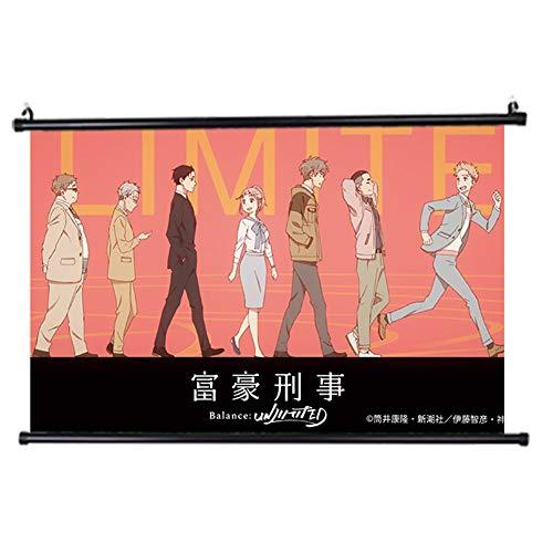 Sweet&rro17 - Poster 'Fugou Keiji, Balance Unlimited', rotolo di carta da parati, decorazione da parete per soggiorno, camera da letto (motivo 4)