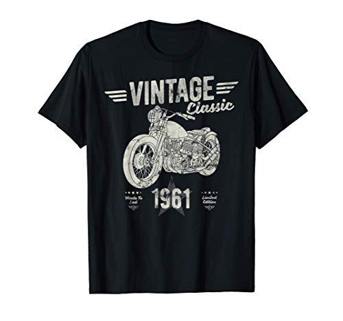Vintage, Born 1961, 60th Birthday, Classic Retro Motorbike T-Shirt