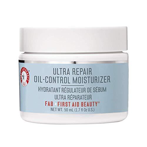 First Aid Beauty Ultra Repair Oil Control Moisturizer – Oil-Free, Weightless Mattifying Cream – 2 oz.