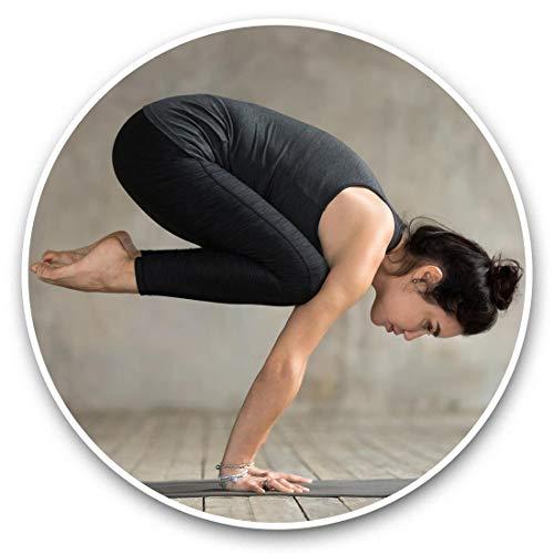 Impresionantes pegatinas de vinilo (juego de 2) 10 cm – Yoga Pose Studio Mujer Divertidas calcomanías para portátiles, tabletas, equipaje, reserva de chatarras, neveras, regalo fresco #46518