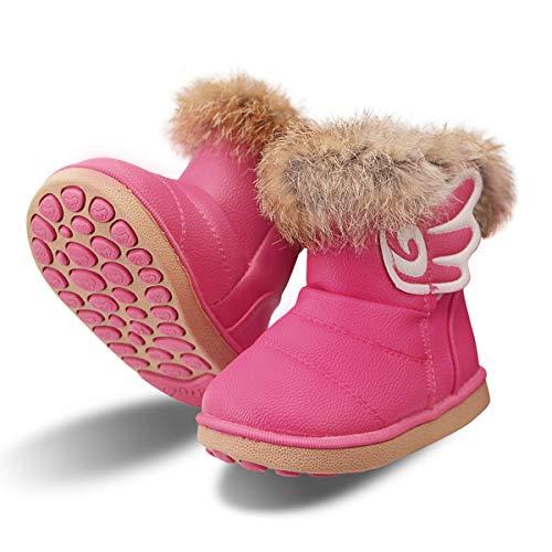 zhenghewyh Kinder Stiefeletten Mädchen Winter Stiefel Warmer Gefütterte Schneestiefel Baby Boots...