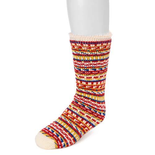 Muk Luks Little Kid's 1-Pair Heat Retainer Socks, Multi, OSFM