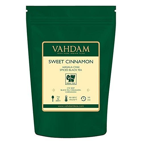 VAHDAM, Cinnamon Masala Chai Tea (100 Cups) | 100% NATURAL SPICES | Ancient Cinnamon Tea Recipe | Spiced Chai Tea Loose Leaf | Brew Hot Tea, Iced Tea or Chai Latte | Black Tea | 3.53oz (Set Of 2)
