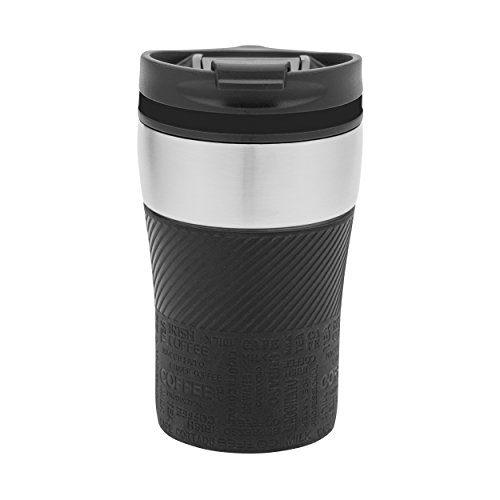 Thermobecher to go - passt unter jeden gängigen Kaffeeautomat Farbe schwarz, silber 230 ml