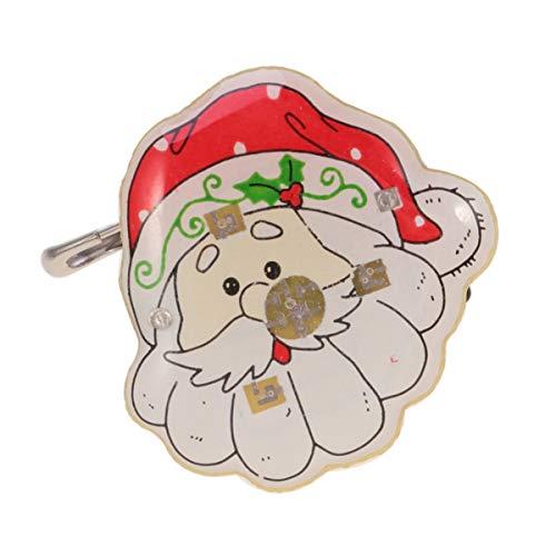 Toddmomy 25 Piezas Broche de Navidad Santa Broche Led Broche de Santa Claus Insignia Broche Pasadores de Solapa Iluminación Navideña Favores de Fiesta para Niños Fiesta de Vacaciones