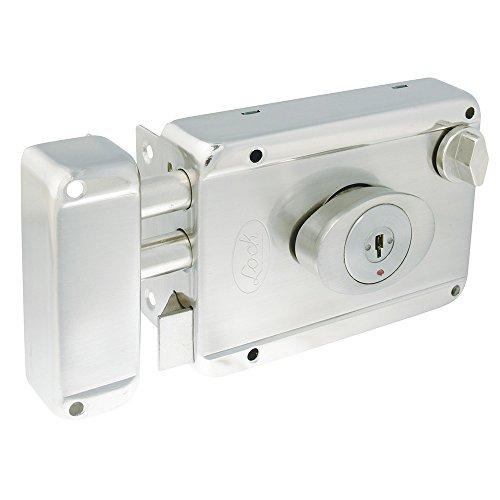 Lock L7725ADBIN Cerradura de Sobreponer 2 Bulones Llave de Puntos