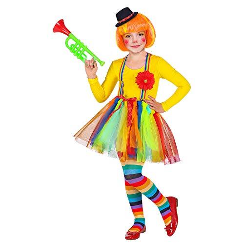 NET TOYS Maravilloso Disfraz de Payaso para nia - Dulce Vestido Infantil con tut, Tirantes y Sombrero Fiestas temticas y Carnaval Infantil