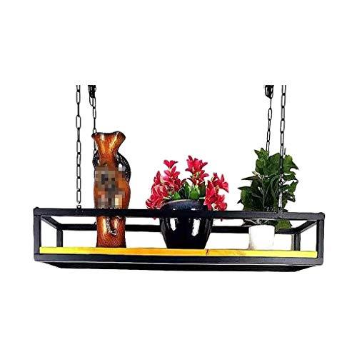 Estantes flotantes, Estante Techo Cocina de Cocina Cocina Isla de la Isla Pan Pan Pan Rack Estantes Colgantes Flower Stand FDWFN (Size : 120×25×15cm)