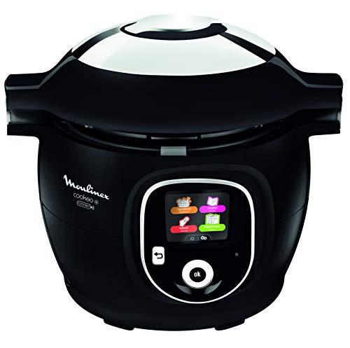 Moulinex Olla multicocción inteligente de alta presión, 6 litros, 150 recetas, 6 modos de cocción, guía paso a paso, uso fácil y rápido Negro