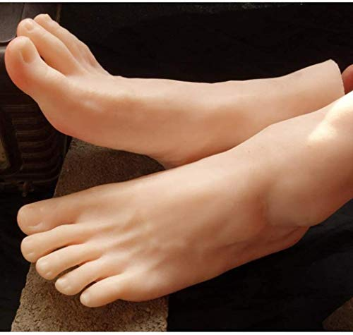 ZHJING Stable Simulation Homme Pied Mannequin Props Affichage Tir Chaussettes Lifesize Jambe Mannequin Pied Chaussures Art Sketch Nail (Color : Rightfoot)