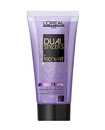 Loreal Sleek & Swing 1 x 150 ml Dual Stylers Tecni.art Smooth Glättung für kräftiges & widerspenstiges Haar by L'Oréal Paris
