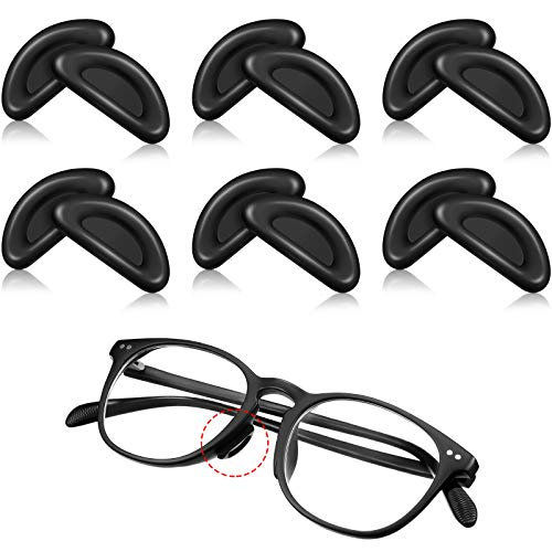 6 Pairs Eye Glasses Nose Pad Soft Silicone Anti-Slip Nose Pads...