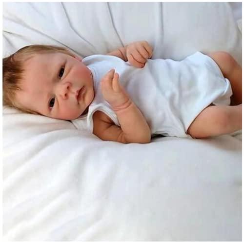 YANRU Bambole Reborn in Silicone Morbido Tutto Il Corpo Originale - 46 Cm Bambola Reborn Ragazza, Silicone per Tutto Il Corpo Bambola Neonata Tutta in Silicone - Set Regalo per Bambini
