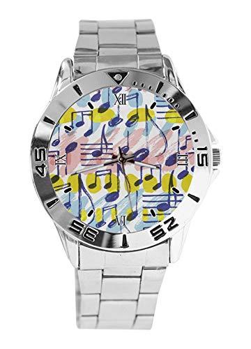 Reloj deportivo para hombre con correa de acero inoxidable y correa analógica, de cuarzo
