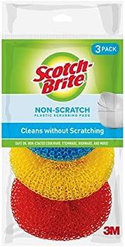 3-Pack Scotch-Brite Non-Scratch Plastic Scrubbing Pads