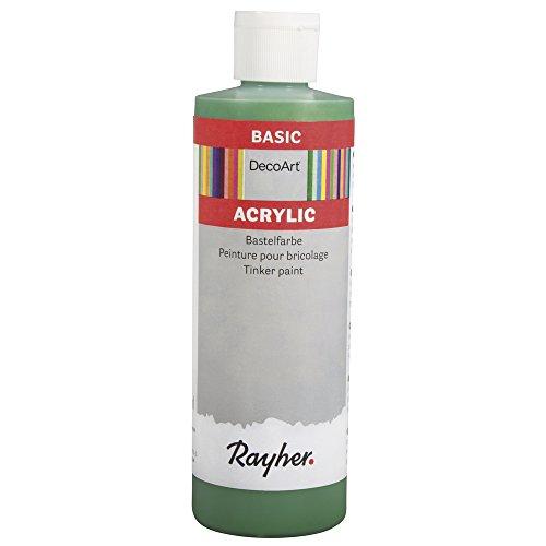RAYHER - 38052424 - acrílico-Pintura artesanía, Botella de 236 ml, Gift Verde