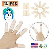 Gel Finger Cots, Finger Protector Support (14 PCS), NUOVO MATERIALE, Guanti da dito, Manic...