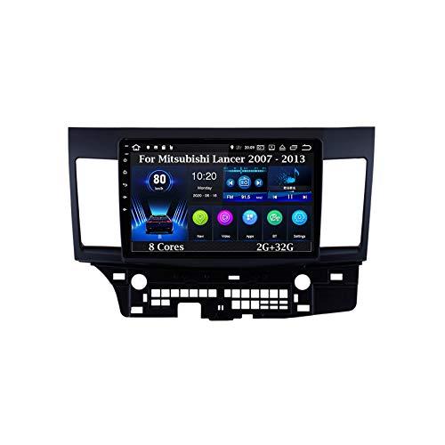 Android Autoradio Car Stereo Pantalla Tactil Coche GPS Navegación para Mitsubishi Lancer 2007 - 2013 8 Cores 2G+32G Coche Conecta Y Reproduce Cámara De Respaldo Estéreo De Coche Audio FM/Am/RDS