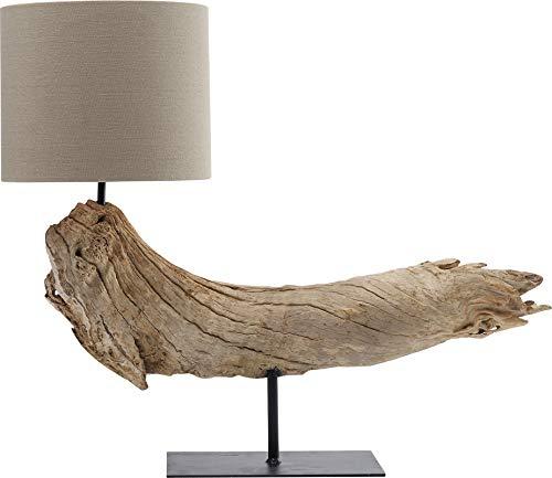 Kare Design tafellamp Sansibar, lamp van hout, tafellamp, bedlamp, lamp van drijfhout, woonkamerlamp, (H/B/D) 54x64x24cm