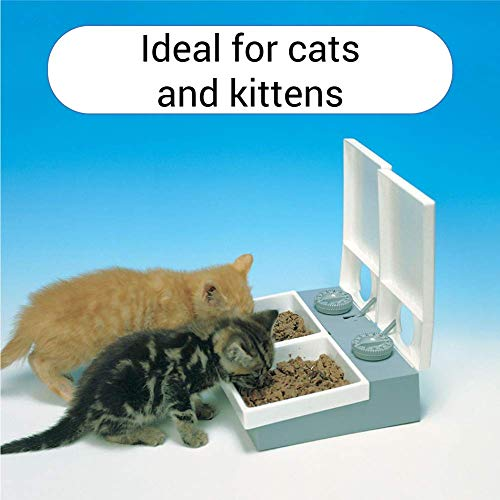 Cat Mate C20 Automatic Pet Feeder | For Cats and Small Dogs with Timer and Ice Pack | For Wet or Dry Food, 2 Meals up to 450g Each