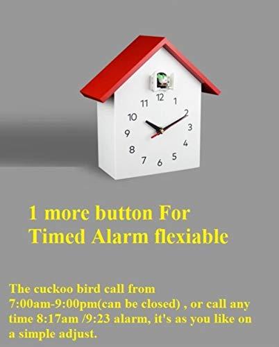 EDCVWandklokken Home Decor Klok Koekoek Modern Design 15 inch Vogel Alarm Koekoeksklok Grote Kinderen Alarm Wandklok, alarm TIMING