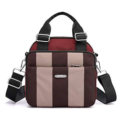 QPYYBR Mochila para mujer pequeña bolsa de hombro multifunción mochila impermeable con múltiples bolsillos de nailon para mujer
