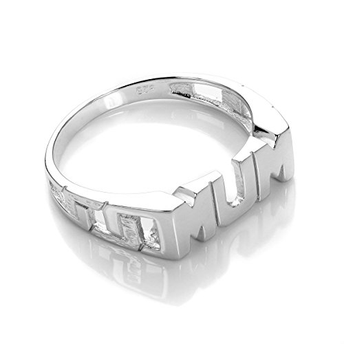 Sterling Silver Mum Ring Size N (J - R Available)